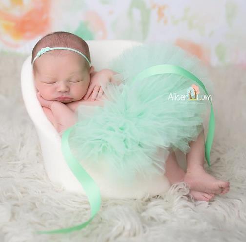 Poofy Mint Baby Girl Tutu
