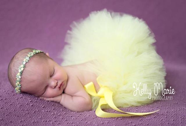 Soft Yellow Baby Girl Tutu