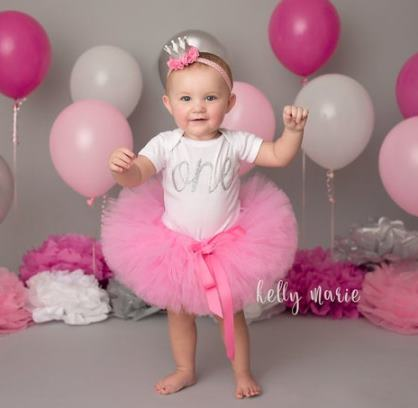 Hot Pink 1st Birthday Tutu Outfit