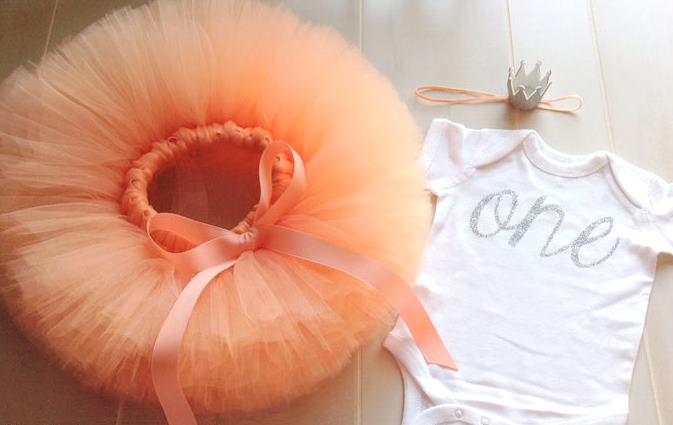Peach 1st Birthday Tutu Outfit