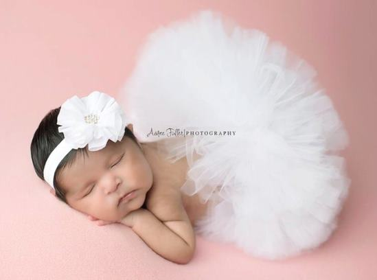 Poofy White Baby Girl Tutu