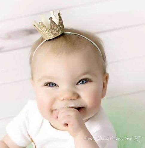 Gold Glitter Crown Headband