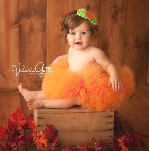 Baby Girl Poofy Orange Tutu
