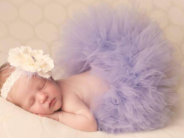 Poofy Violet Baby Girl Tutu Skirt