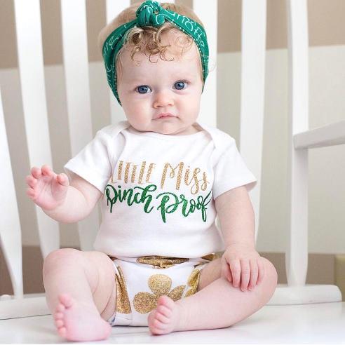 Little Miss Pinch Proof St. Patrick's Day Bodysuit Shirt