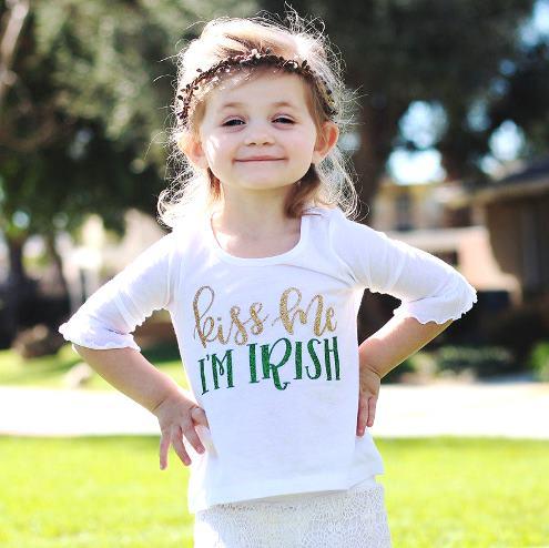 Kiss Me I'm Irish St. Patrick's Day Bodysuit Shirt