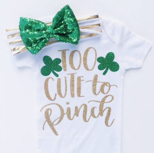 Too Cute to Pinch St. Patrick's Day Outfit and Matching Headband