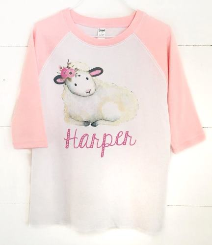 Little Lamb Personalized Easter Toddler Shirt