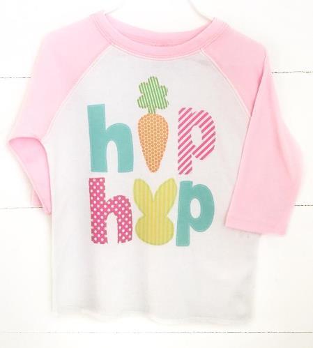 Baby Girls Hip Hop Easter Bodysuit Shirt
