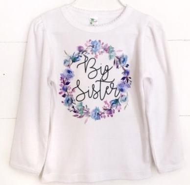 Violet Wreath Big Sister Shirt