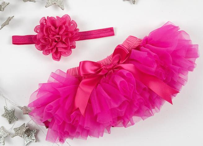 Hot Pink Tutu Diaper Cover with Matching Headband