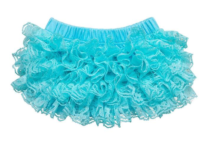 Turquoise Lace Diaper Cover Bloomer