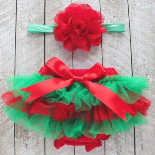 RED TUTU Bloomer and Baby Girl HEADBAND Set- Red Bloomer Red headband all around ruffles newborn tutu red flower headband