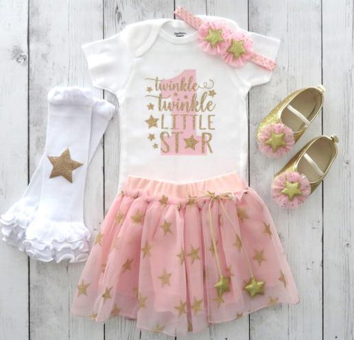pink silver twinkle twinkle little star 1st birthday outfit girl 1st birthday outfit girl personalized 1st birthday twinkle first birthday
