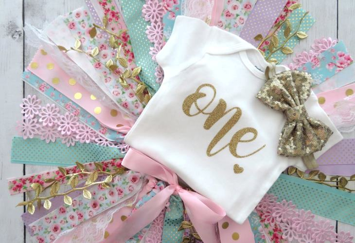 Girls First Birthday Floral Tutu Outfit