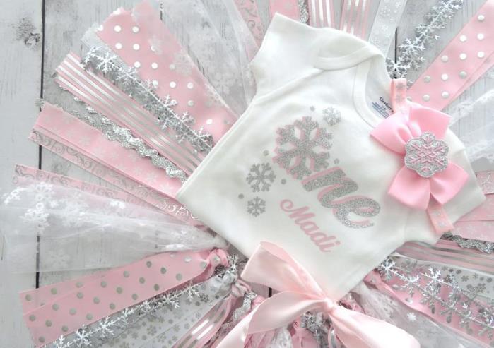 Personalized ONEderland Snowflake First Birthday Bodysuit