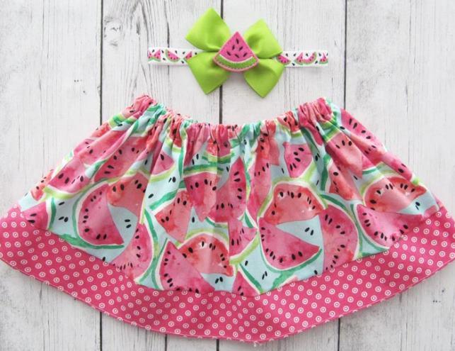 Baby Girls Watermelon Skirt