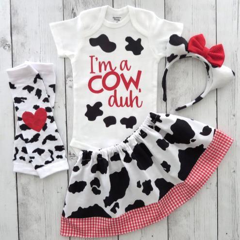 Baby Girl Cow Halloween Costume