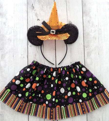 Mouse Ears Witch Hat & Skirt Halloween Costume