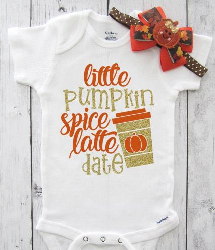 Pumpkin Spice Latte Date Fall Bodysuit