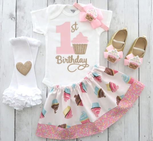 Cupcakes & Sprinkles 1st Birthday Outfit