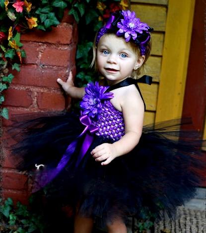 Little Witch Halloween Tutu Dress
