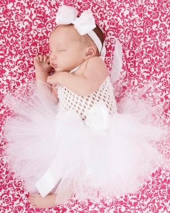 Classic White Baby Girl Tutu Dress