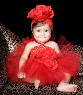 Red Peony Tutu Dress