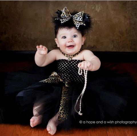 Black & Leopard Tutu Dress