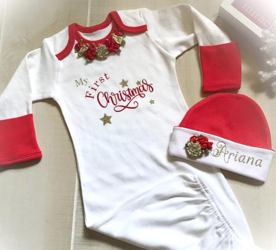 My First Christmas Newborn Coming Home Gown