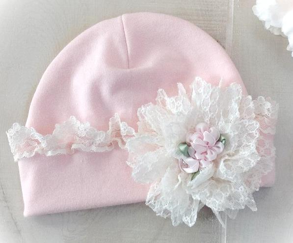 Sweet Lace Newborn Hospital Hat
