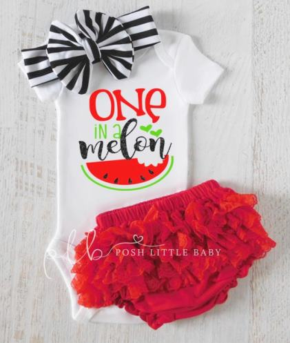 One In a Melon Baby Onesie Bodysuit Outfit Set
