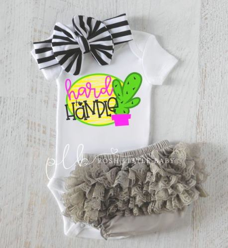 Hard to Handle Cactus Baby Bodysuit