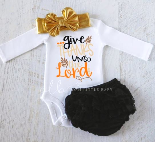 Give Thanks Unto the Lord Thanksgiving Bodysuit