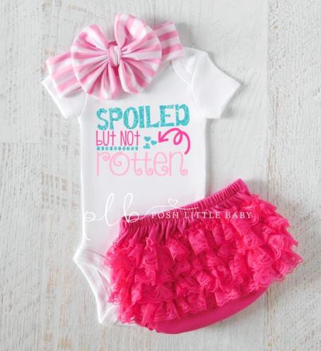 Spoiled but Not Rotten Baby Glitter Bodysuit