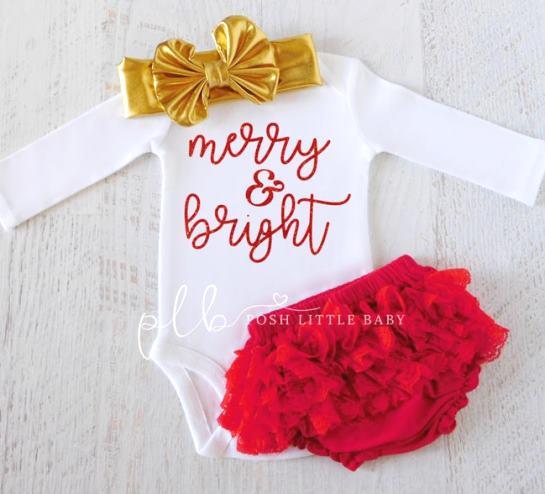 Merry & Bright Christmas Bodysuit