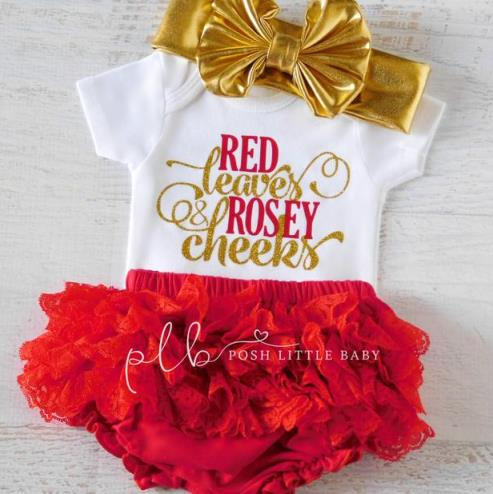 Red Leaves & Rosy Cheeks Fall Bodysuit