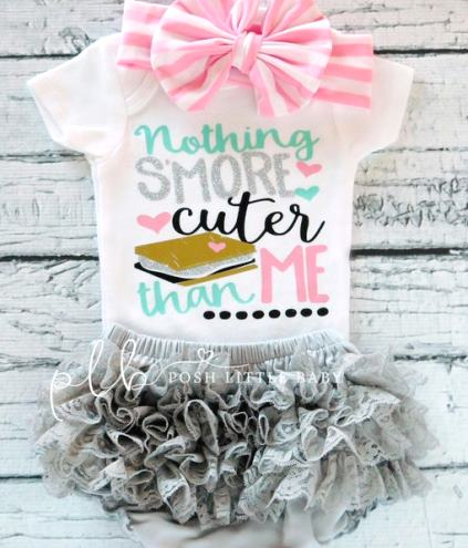 Nothing S'more Cuter Baby Glitter Bodysuit