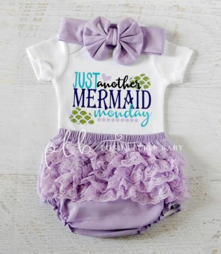 Just Another Mermaid Monday Baby Bodysuit