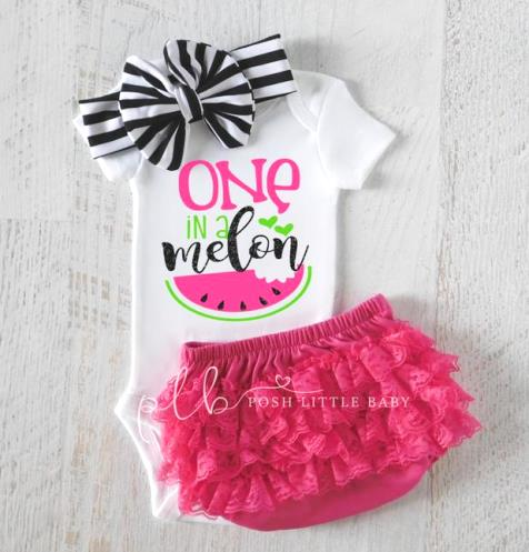 Hot Pink One In a Melon Baby Bodysuit