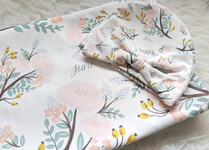 Spring Bouquet Personalized Swaddle Blanket