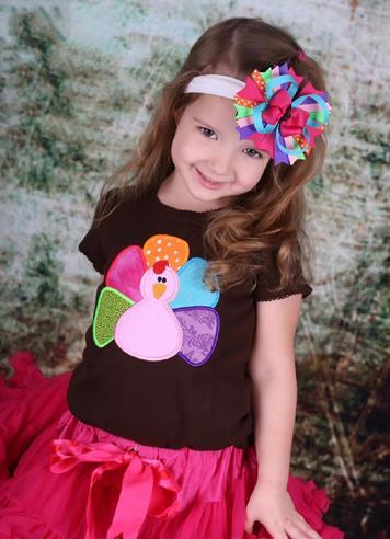 Colorful Little Turkey Thanksgiving Bodysuit