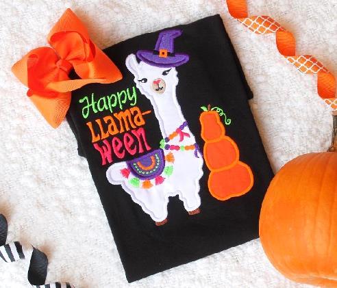 Happy Llama-Ween Halloween Bodysuit
