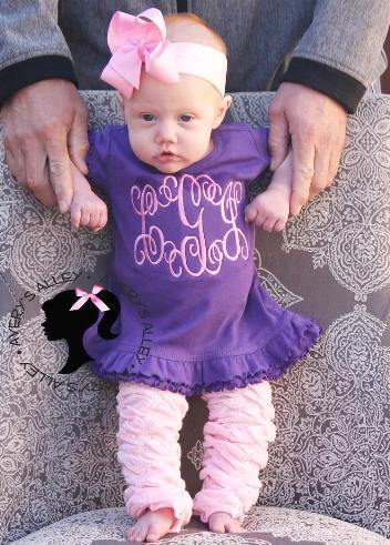Purple & Pink Personalized Ruffle Dress