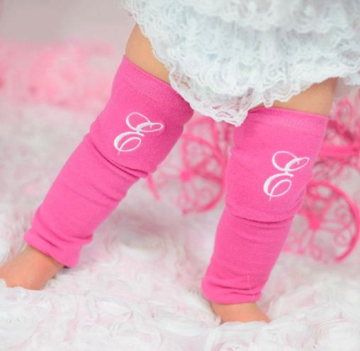 Hot Pink & White Initial Leg Warmers