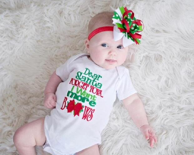 Dear Santa I Want More Bows Christmas Bodysuit