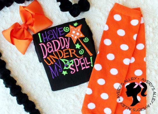 Daddy's Under My Spell Halloween Bodysuit