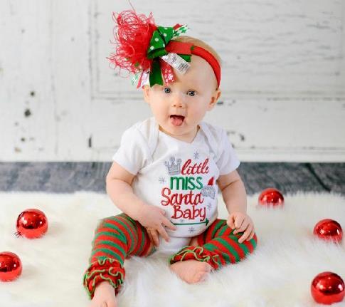 Little Miss Santa Baby Christmas Bodysuit