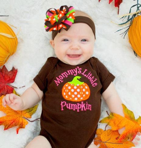 Mommy's Little Pumpkin Fall Bodysuit