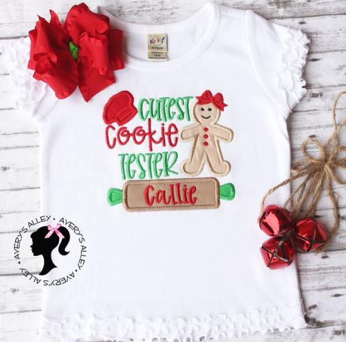 Personalized Cutest Cookie Tester Christmas Shirt